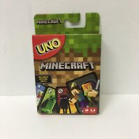 New Uno Minecraft Card Game New Sealed Kids 7+ 2-10 Player Perfect For Christmas