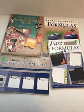 Lot of 4 Scrapbooking Books Fast Formulas - 4th Ed, 3rd Ed, Layout Gd, Ultimate