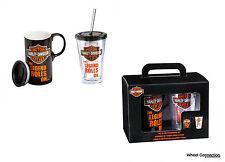 Harley Davidson Boxed Great Gift Set of 2 Travel Hot Mug and Cold Cup Bar Sheild