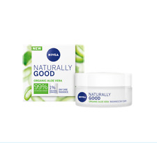 Nivea Day Cream Care Naturally Organic Aloe Vera Radiance 24h Hydration 50 ml