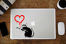 "Banksy Rat Love Heart Decal Sticker for Apple MacBook Air/Pro 12"" 13"" 15"""