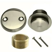 Brushed Nickel Toe Touch Conversion Kit Tub Drain Overflow