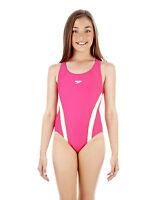 Speedo Girls Essential Splashback Swimsuit Raspberry Swimming Costume 8807