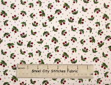 Mary Engelbreit Cherry Toss Red Cherries Kitchen Food White Cotton Fabric YARD