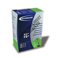 """16"""" x 1 1/4, 1 3/8, 1 5/8 Schwalbe Inner Tube Car AV4 Valve RRP £10.99 [S59-1]"""