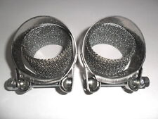 2 X Exhaust Silencer Stainless Clamps & Seals for Kawasaki Zzr600