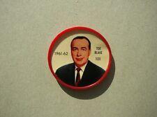 1961/62 SHIRRIFF PLASTIC NHL HOCKEY COIN #101 TOE BLAKE NICE!! 61/62 SHIRRIFF