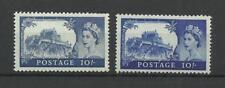 GB 1959 & 1963  10/- High Value both Printings   Lightly mounted mint