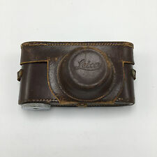 Vintage Wartime E Leitz New York LEICA III a b c Leather CAMERA CASE ELMAR 50mm