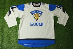 FINLAND NATIONAL TEAM 2012-2013 ICE HOCKEY SHIRT JERSEY NIKE ORIGINAL SIZE L