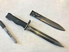 Rare Yugo Yugoslavian M1956 Smg Combat Knife Bayonet & Scabbard