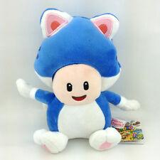 "Super Mario 3D World Blue Cat Toad Plush Soft Toy Stuffed Animal Doll Teddy 8"""