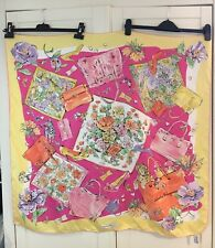 "Genuine Salvatore Ferragamo Ladies scarf, BNWT, 100% silk, ""shopping"" design"