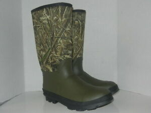 Magellan Outdoors 400 g Rubber Hunting Woodland Camo Boots Men's Size 13 D