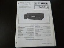 Original Service Manual Schaltplan Fisher DAC-915