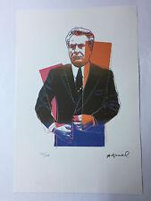 Andy Warhol Litografia 57 x 38 Arches France Timbro Secco Galleria Arte A186