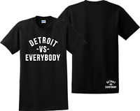 Detroit VS Everybody T Shirt Eminem D12 RAP God Slim Shady Records Tee Shirts