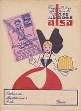 Objet de collection protège cahier levure Alsacienne Alsa