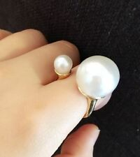 Pearl Alloy Statement Round Costume Rings
