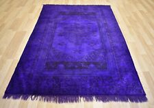 Vintage Over-Dyed Purple Handmade Melas Rug  5 Ft x 8 Ft  Free Shipping