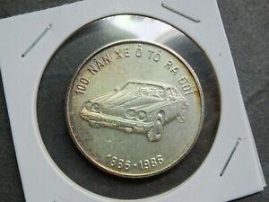 Vietnam, 100 Dong Silver 1986, 100 Nan Xe O To Ra Doi 1886-1896