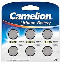 Camelion 13000600 CR Lithium Coin Cell Battery Set of 6 Silver