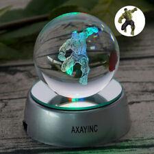 Marvel Avengers Hulk Crystal Ball 3D Night light Bedroom Led Table Lamp Gift