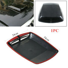 Black Car 3D  Car Air Flow Intake Hood Scoop Vent Bonnet Cover Plastic Sticker