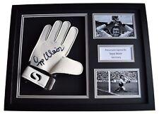 Sepp Maier Signed FRAMED Goalkeeper Glove 16x12 photo display Germany AFTAL COA