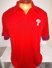PHILADELPHIA PHILLIES MAJESTIC DRI FIT  GOLF POLO SHIRT NEW MENS PICK SIZE