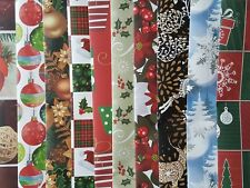 10 SHEETS OF GOOD QUALITY ASSORTED TRADITIONAL CHRISTMAS WRAPPING PAPER