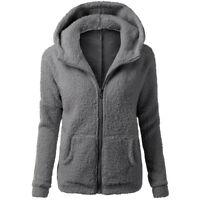 New Winter Women Thicken Fleece Fur Warm Coat Hooded Parka Jacket Casual Outwear