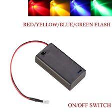 12V Colorful Flash LED Dummy Security Car Alarm Motorbike LED Switch Battery