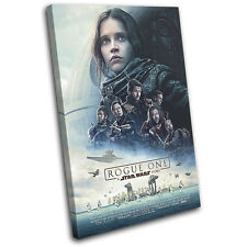 Star Wars Rogue One Poster Movie Greats SINGLE CANVAS WALL ART Picture Print