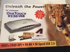Visioneer Scanner One Touch 9220 High Speed USB Scan Photos Slides Negatives NOS