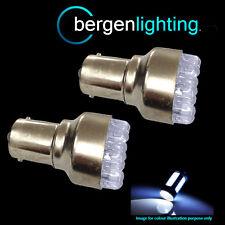 380 BAY15D 1157 XENON WHITE 12 DOME LED STOP TAIL BRAKE LIGHT BULBS ST200102