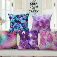 "Cotton Linen Graffiti hummingbird Throw Pillow Case Cushion Cover Home Decor 18"""