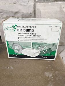 Vintage Sears 12v Portable Electric Air Pump- 1121 in Good Condition