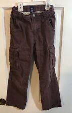 Gap Kids Boys Maroon Cargo Pants Adjustable Waist Size 7 K