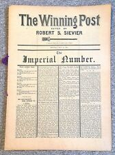 THE WINNING POST- THE IMPERIAL NUMBER, Edited by ROBERT S. SIEVIER, 1910