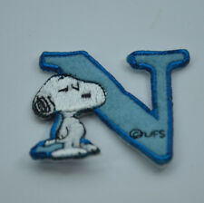 "LETTER N SNOOPY ALPHABET 1 1/2"" 4cm Sew Iron on Cloth Patch Applique Embroidery"