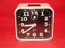 RÉVEIL VINTAGE BLANC JAPY / HORLOGE PENDULE MOUVEMENT OLD CLOCK