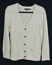 NEW Rag & Bone//Jean Cotton Long Sleeve Button Down Cardigan in Ivory - Size L