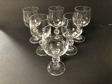 Bohemia Crystal CLAUDIA Ball Stem Wine Glasses Lot Of 6 Excellent