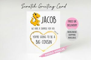 You're Going To Be A Big Cousin Pregnancy Card Reveal Scratch Card Niece Nephew