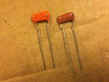 2 Nos Vintage Sprague Orange Drop .015 uf 100v Capacitors Guitar Tone Caps (Qty