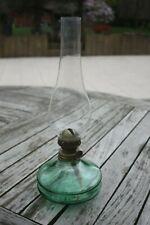 Lampe à pétrole petit format avec mèche et tube en verre - TBE
