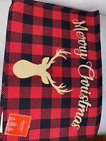 4 Red Buffalo Check Placemats Deer   Christmas Decoration