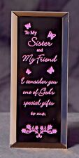 A Gift for your Sister - A Keepsake Plaque for your Sister