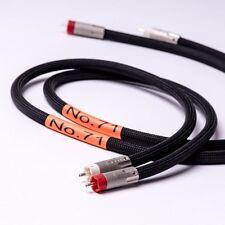 MCRU NO.71 STEREO RCA CABLES | 7N PURE SILVER CABLE | PURE SILVER RCA PLUGS